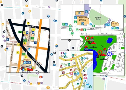 Legacy Mobility Maps show accessible facilities without connectivity