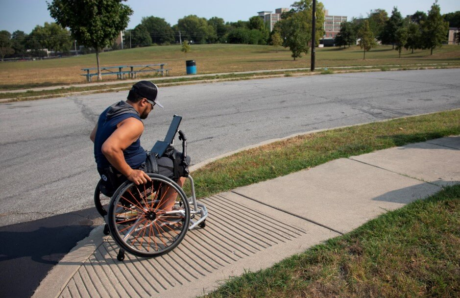 Brandon wheelchair pilot mapping Indianapolis